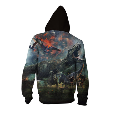 Image of Jurassic World 3D Zip Up Hoodie