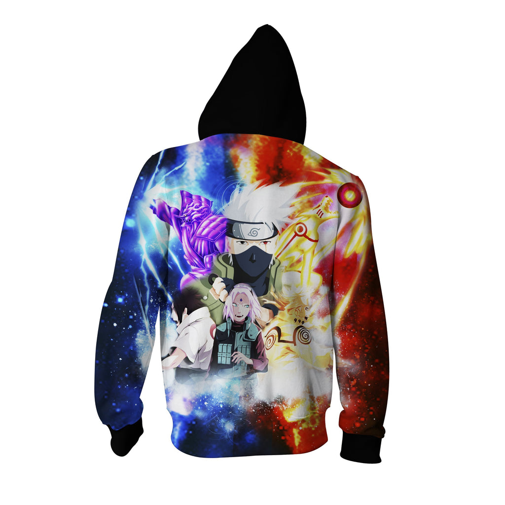 Naruto and Sasuke Zip Up Hoodie