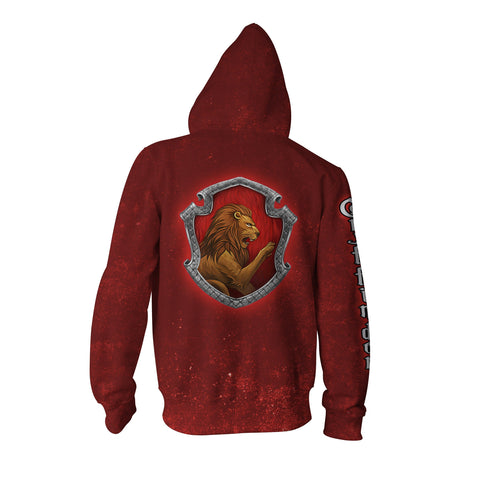 Image of Gryffindor Logo (Harry Potter) 3D Zip Up Hoodie