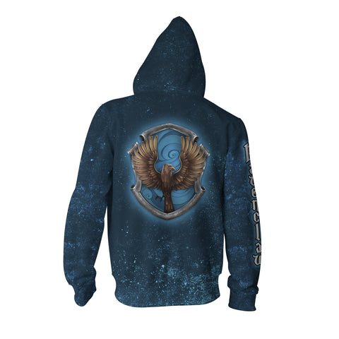 Image of Ravenclaw Logo (Harry Potter) 3D Zip Up Hoodie