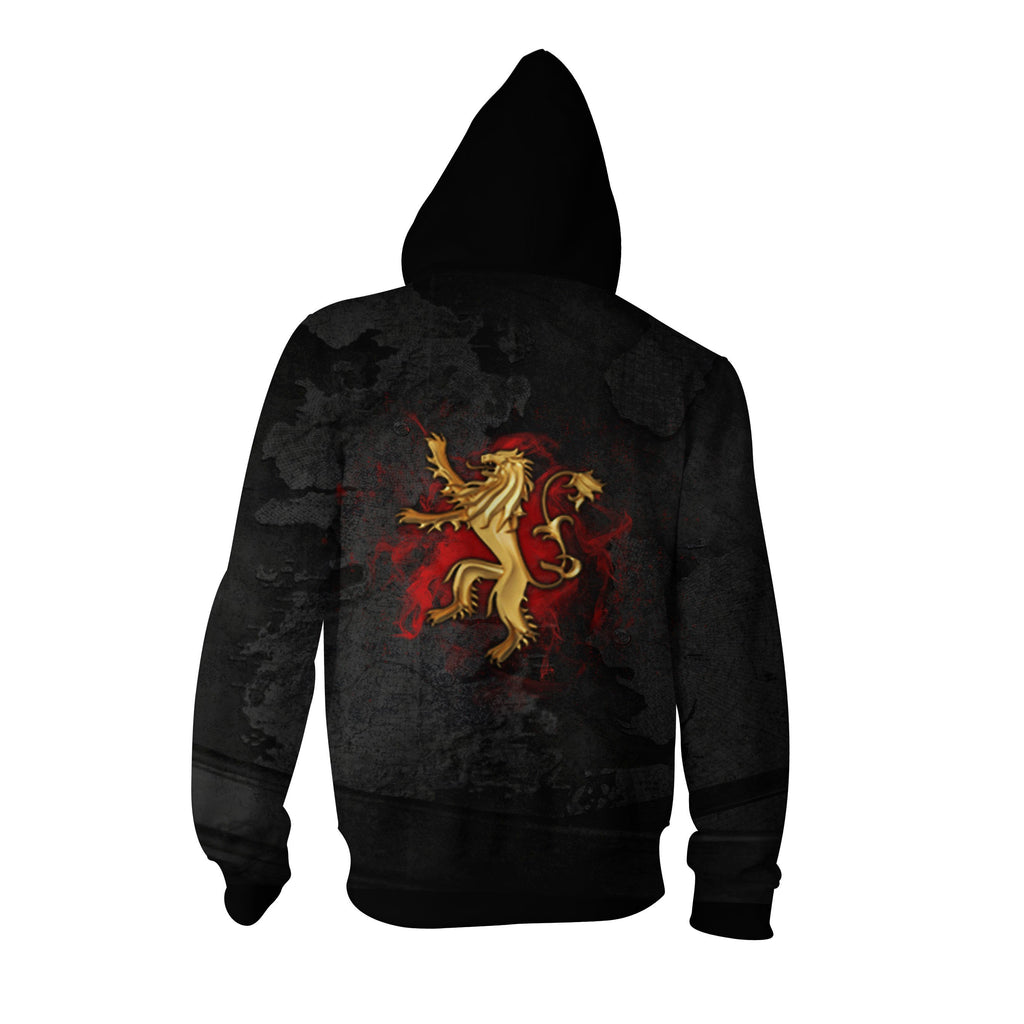 Hear Me Roar Lannister Game Of Thrones Zip Up Hoodie