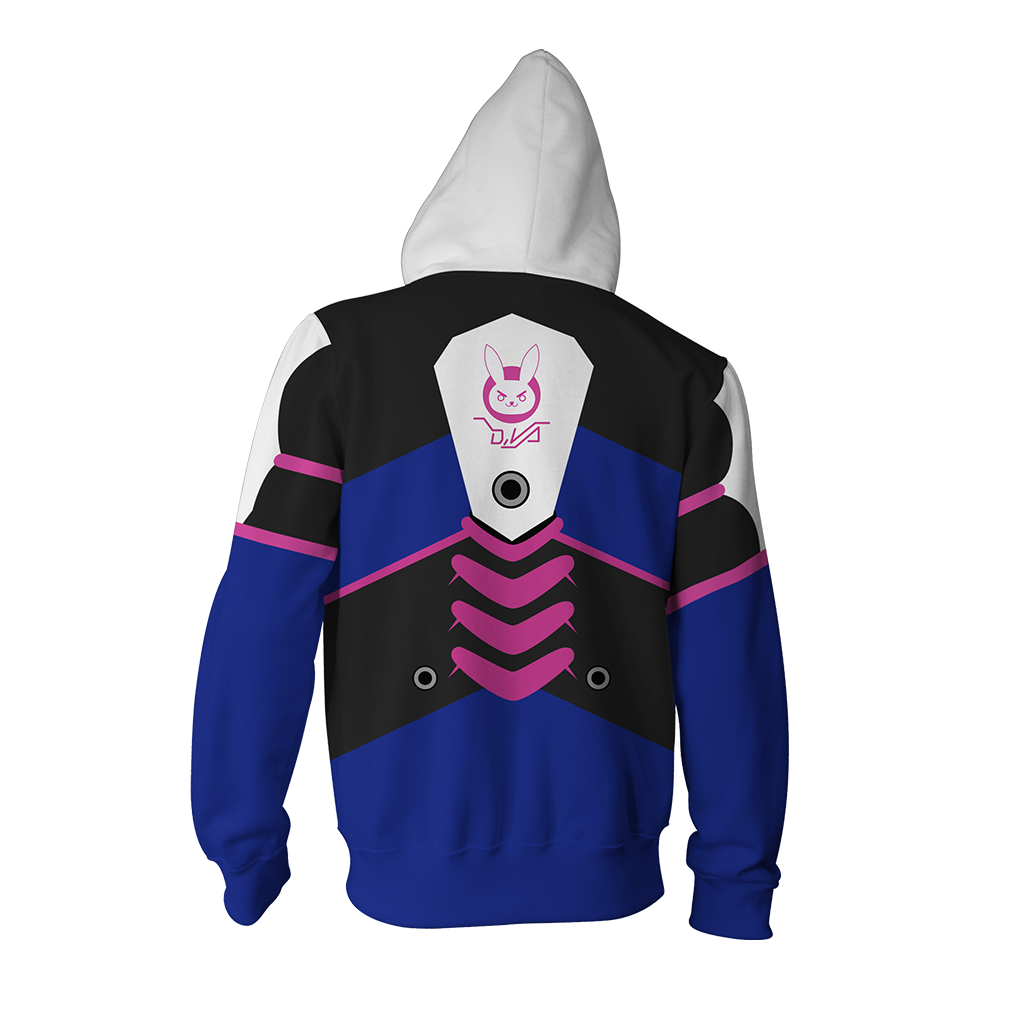 Overwatch D.Va Cosplay Zip Up Hoodie Jacket