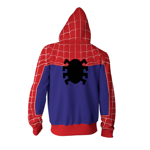 Image of Spider-Man: Into the Spider-Verse Peter Parker Cosplay Zip Up Hoodie Jacket