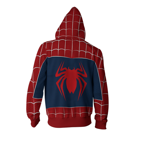 Image of The Amazing Spider-Man 2 Peter Parker Cosplay Zip Up Hoodie Jacket