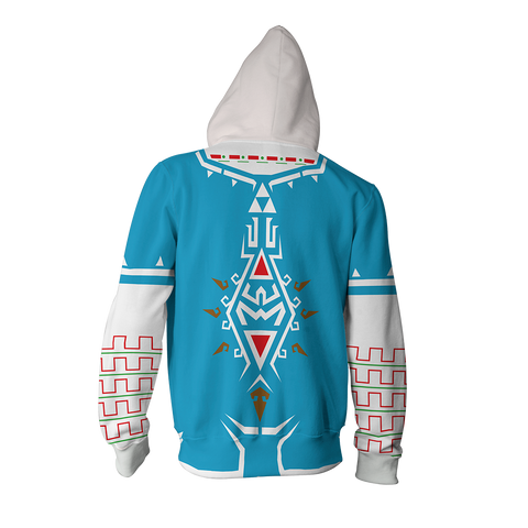 The Legend of Zelda: Breath of the Wild Link Cosplay New Look Zip Up Hoodie