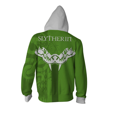 Image of Quidditch Slytherin Harry Potter Zip Up Hoodie