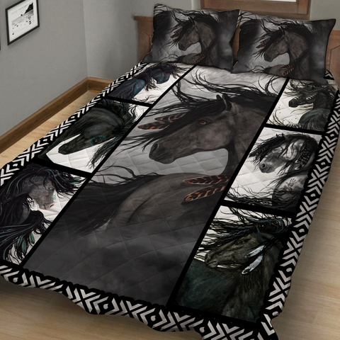 Image of Majestic Horse 3D Quilt Bed Set