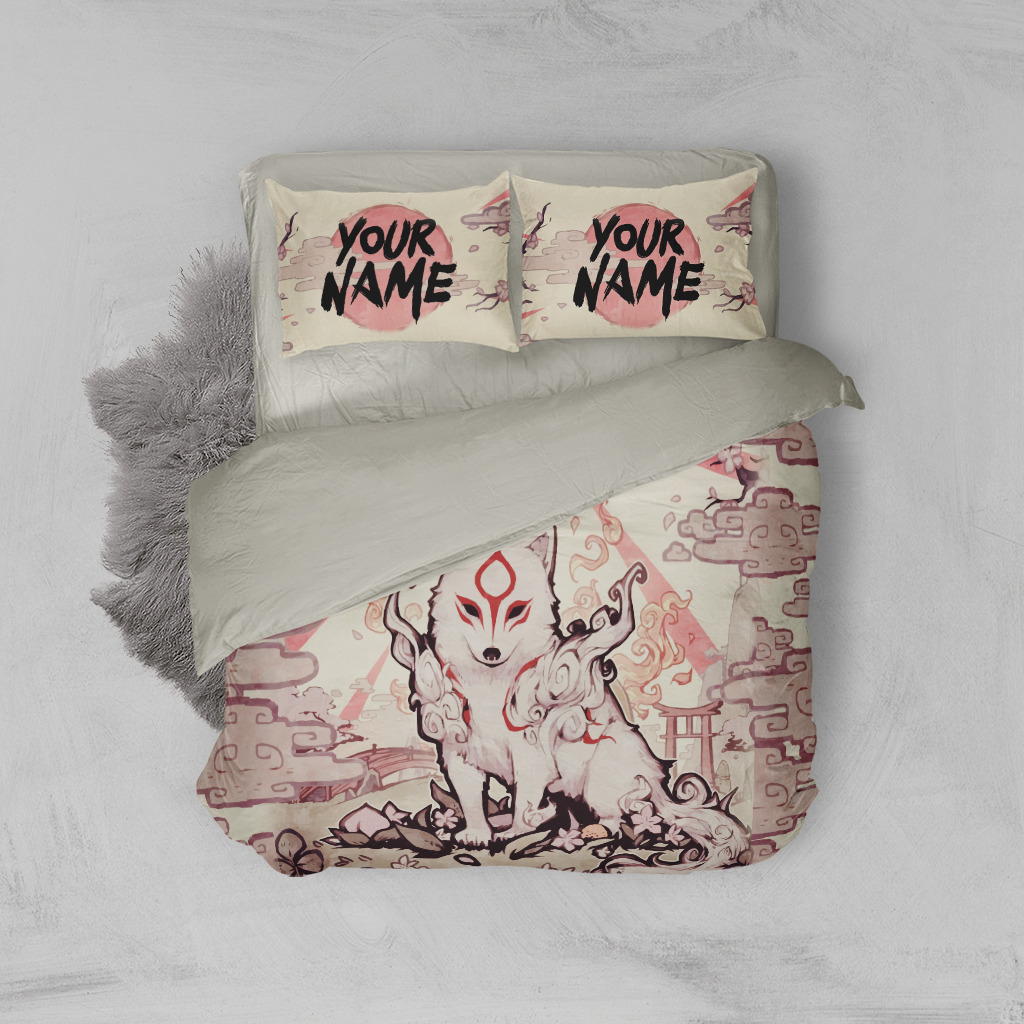 Okami-Customized 3D Bed Set