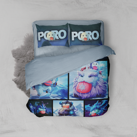 Image of League Of Legends Poro Complication 3D Bed Set