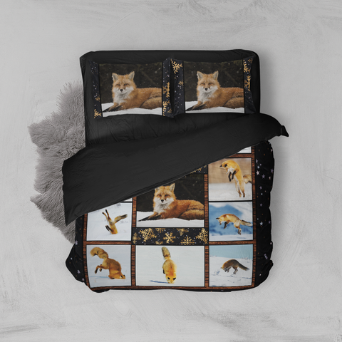 Image of Fox In The Snow 3D Bed Set