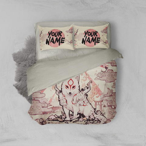 Image of Okami-Customized 3D Bed Set
