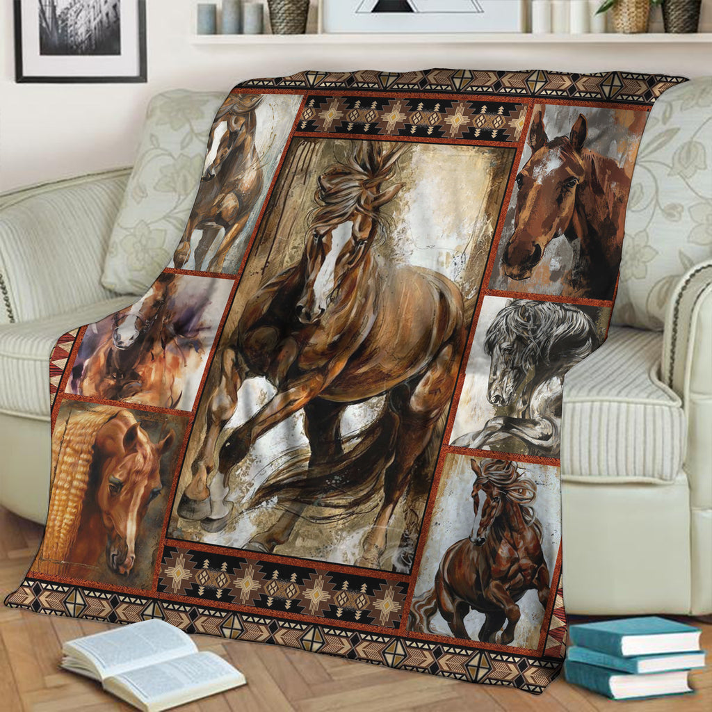 Horse Lovers 3D Throw Blanket