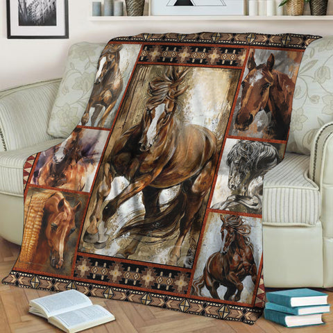 Image of Horse Lovers 3D Throw Blanket