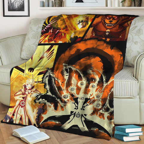 Image of Naruto Hokage 3D Throw Blanket