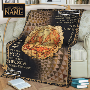 Gift For Husband - Customized Name 3D Throw Blanket