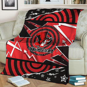 Persona 5 Phantom Thieves Take Your Heart Symbol 3D Throw Blanket