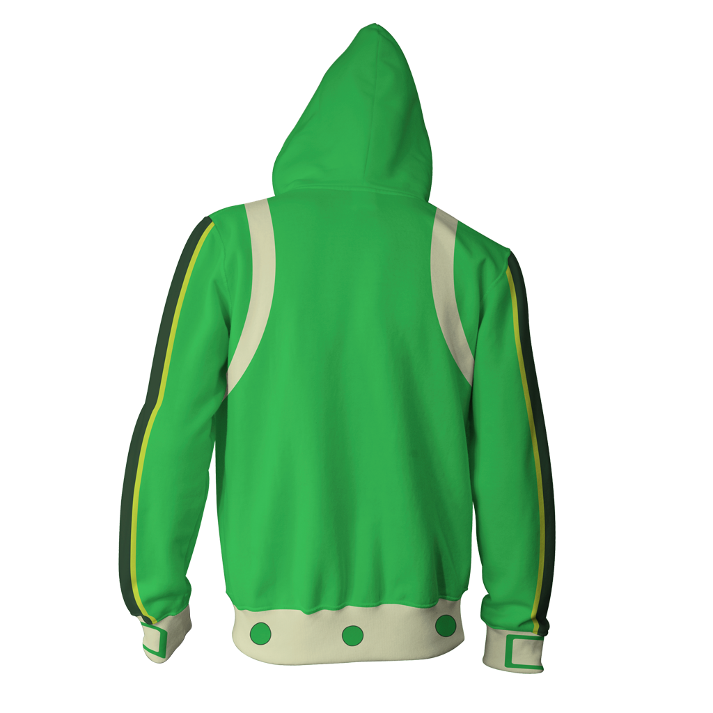 Boku No Hero Academia Tsuyu Asui Cosplay Zip Up Hoodie Jacket