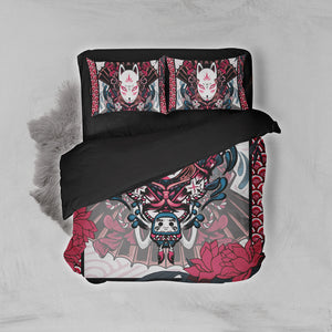 Naruto Kitsune Mask 3D Bed Set
