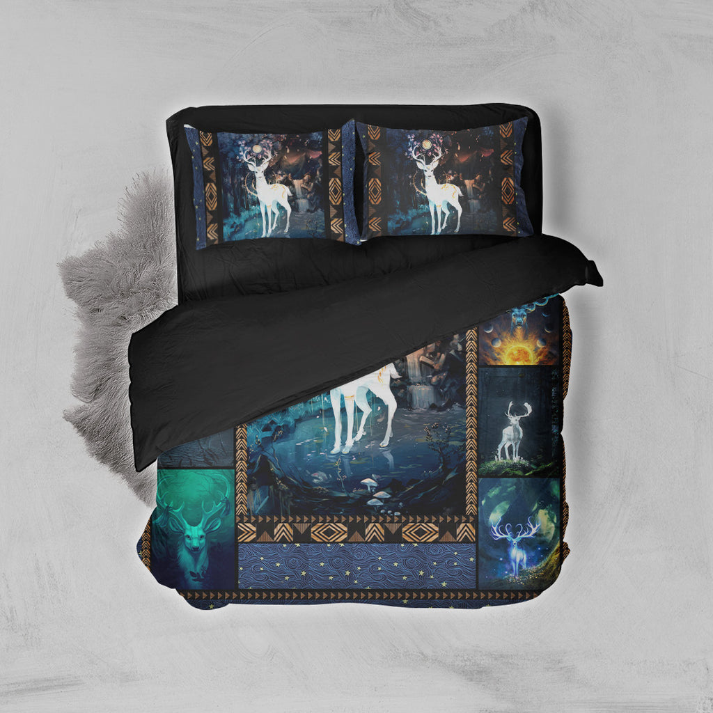 Aesthetic Deer In The Jungle 3D Bed Set