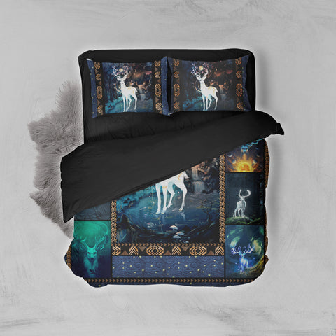 Image of Aesthetic Deer In The Jungle 3D Bed Set