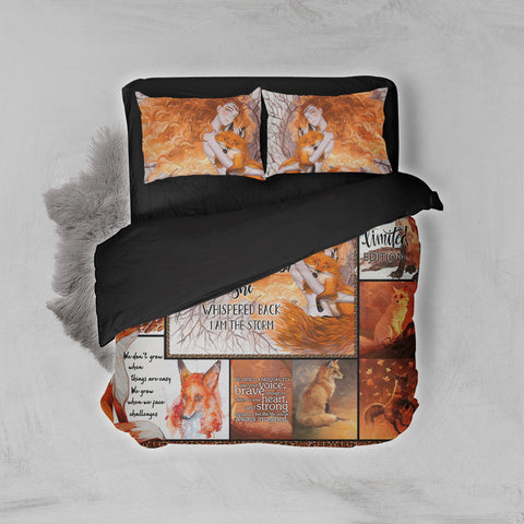 Image of Fox February Girl 3D Bed Set