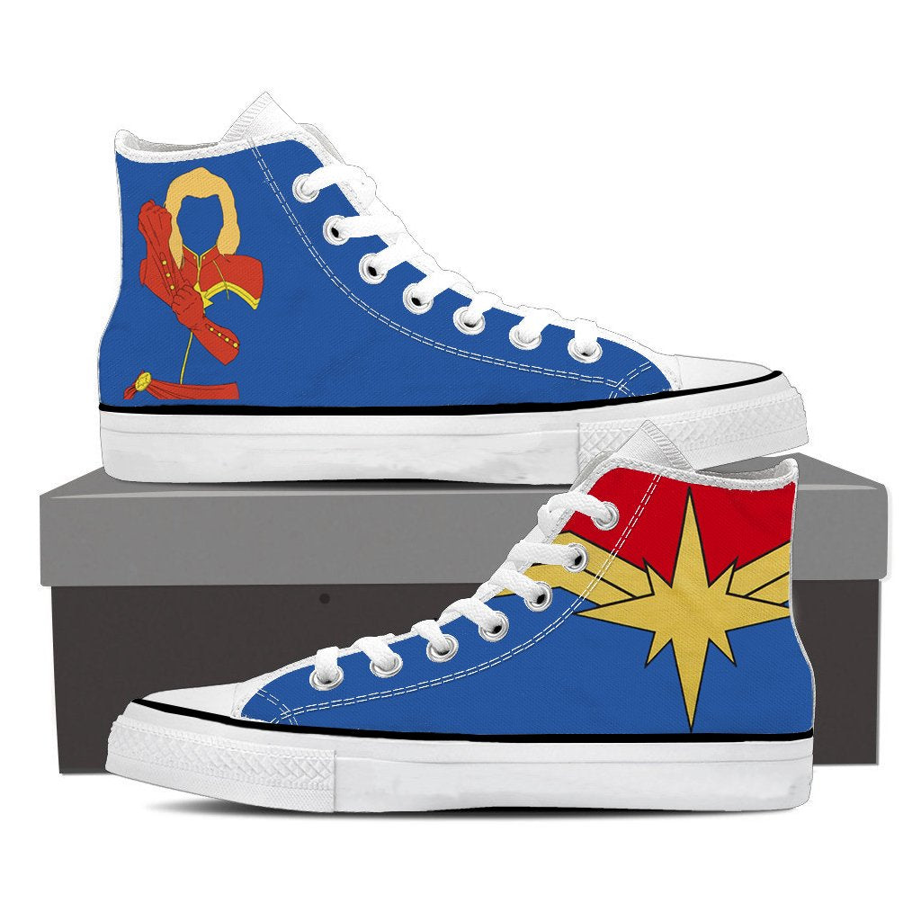 Captain Marvel High Top Shoes