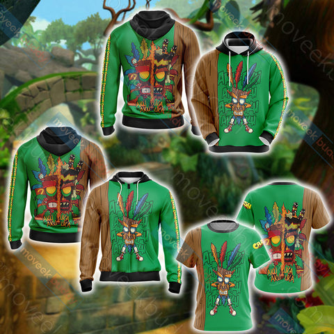 Image of Crash Bandicoot New Unisex 3D Hoodie