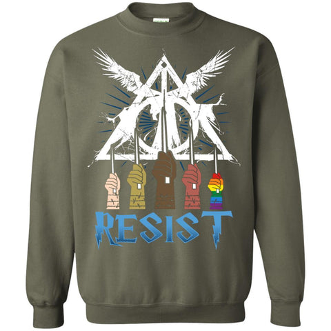 Image of Resist Harry Potter Fan T-shirtG180 Gildan Crewneck Pullover Sweatshirt 8 oz.