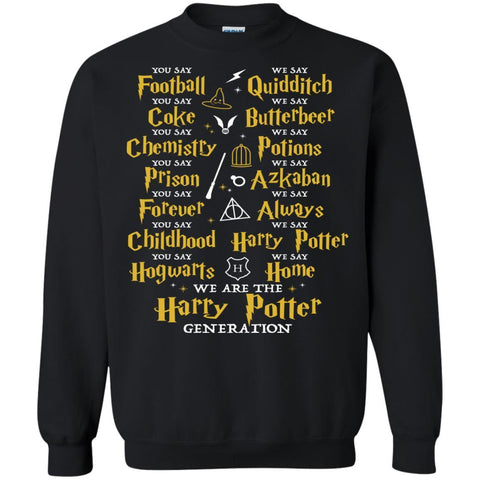 Image of We Are The Harry Potter Generation Movie Fan T-shirtG180 Gildan Crewneck Pullover