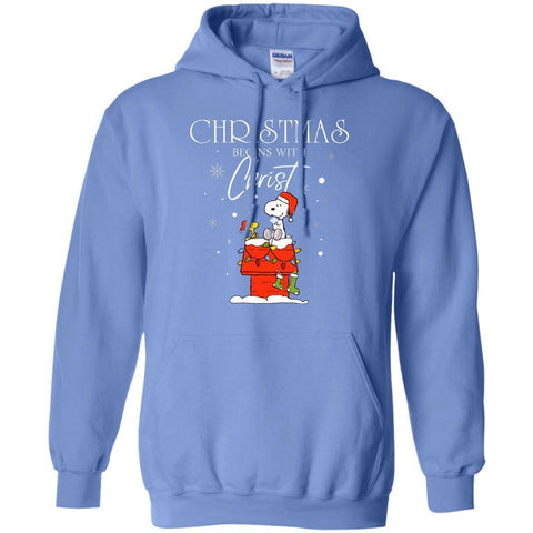 Image of Christmas Begins With Christ ShirtG185 Gildan Pullover Hoodie 8 oz.