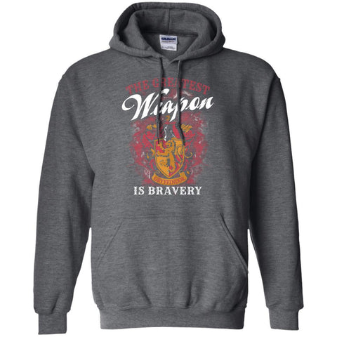 Image of The Greatest Weapon Is Bravery Harry Potter Fan T-shirtG185 Gildan Pullover Hoodie 8 oz.