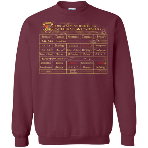 Image of Harry's Schedule Harry Potter ShirtG180 Gildan Crewneck Pullover Sweatshirt 8 oz.