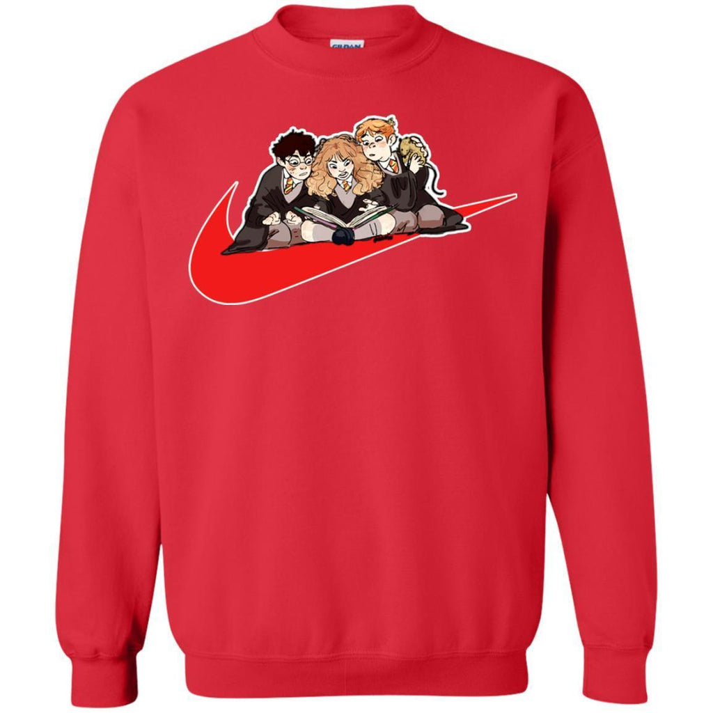 Harry Ron Hermione Gryffindor House Harry Potter Fan ShirtG180 Gildan Crewneck Pullover Sweatshirt 8 oz.