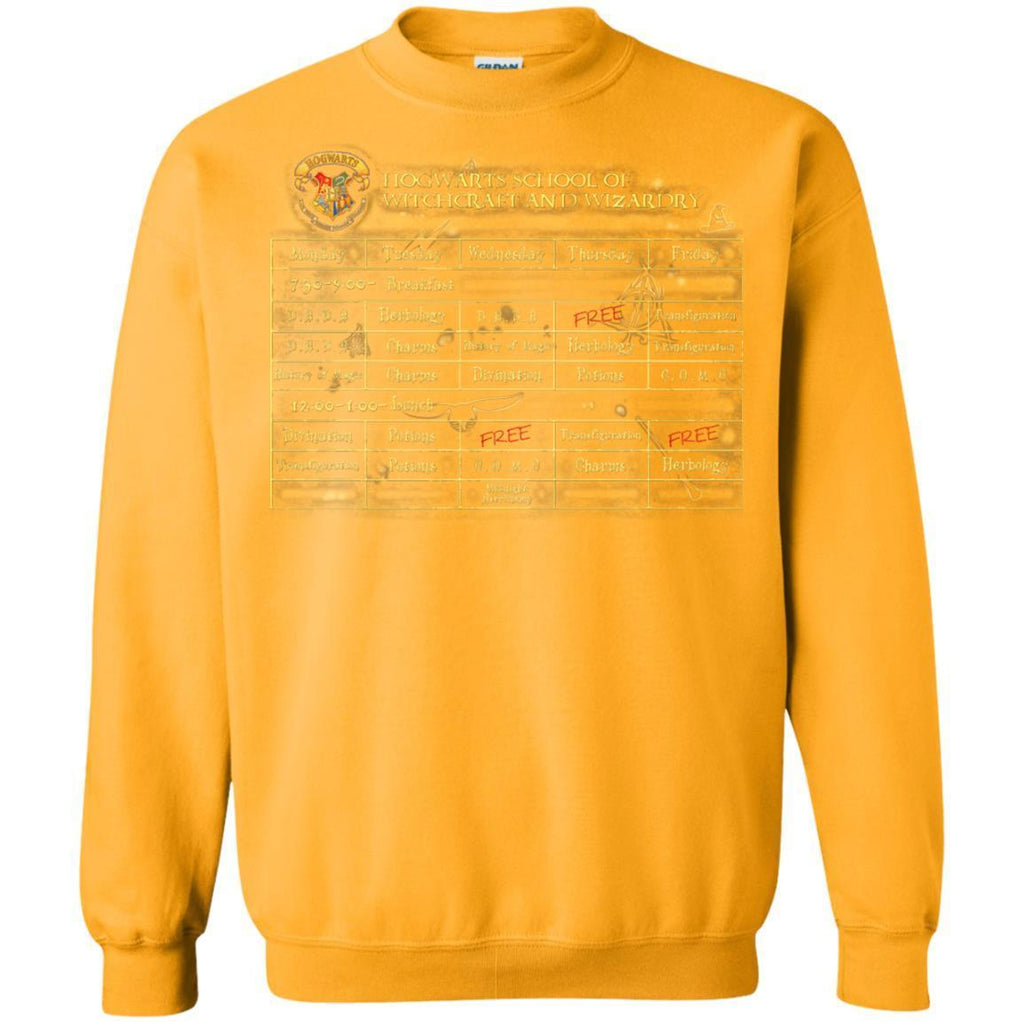 Harry's Schedule Harry Potter ShirtG180 Gildan Crewneck Pullover Sweatshirt 8 oz.
