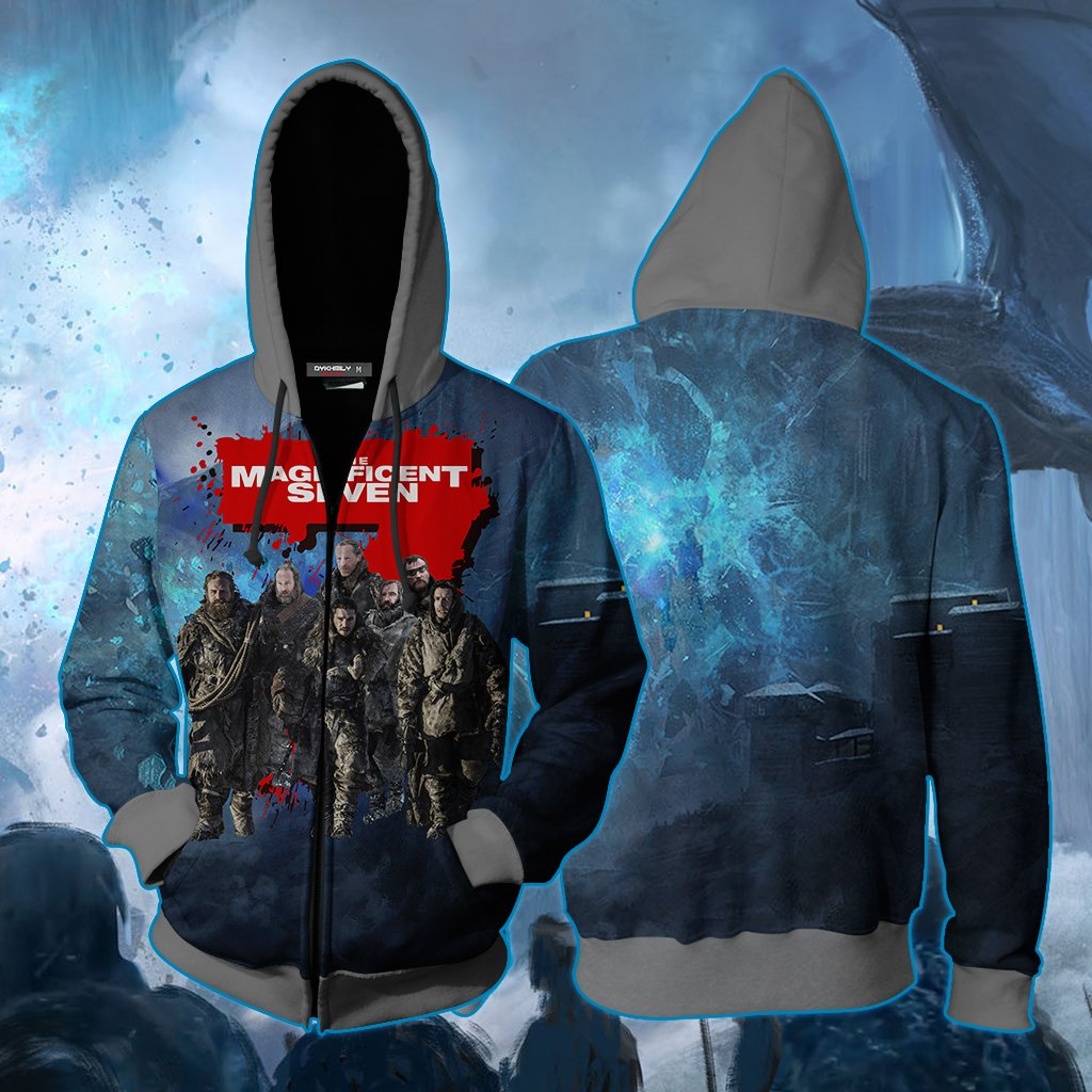 The Magnificent Seven Game Of Thrones Version Zip Up Hoodie