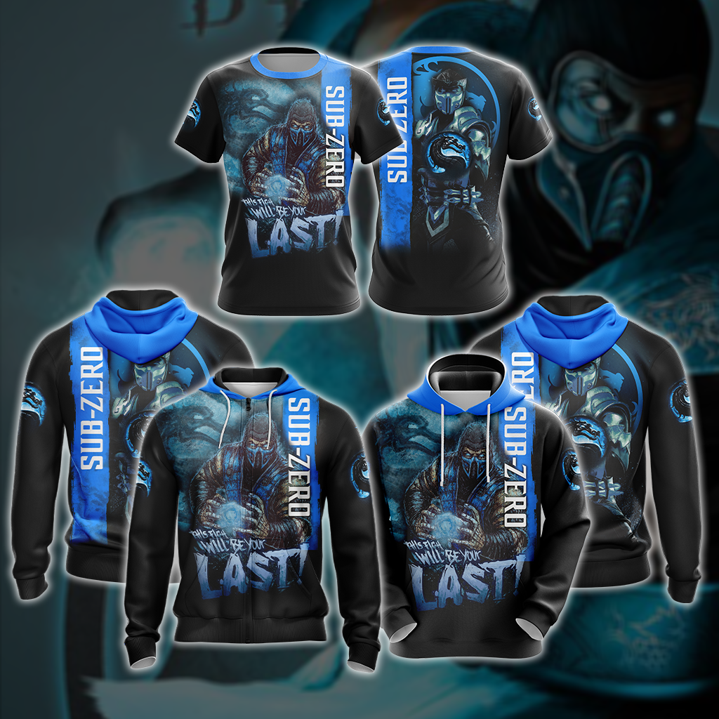 Mortal Kombat Sub Zero This Time Will Be Your Last Unisex 3D T-shirt
