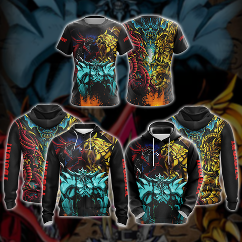 Image of Yu-Gi-Oh! Egyptian Gods Dragons Unisex Zip Up Hoodie