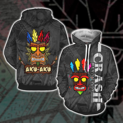 Image of Crash Bandicoot - Aku Aku Unisex 3D Hoodie