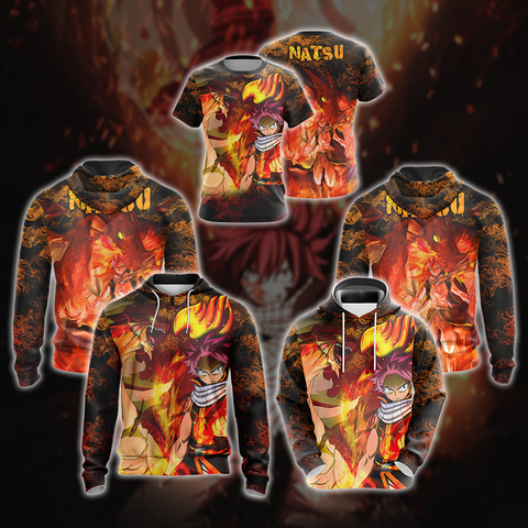 Image of Fairy tail - Natsu Unisex Zip Up Hoodie