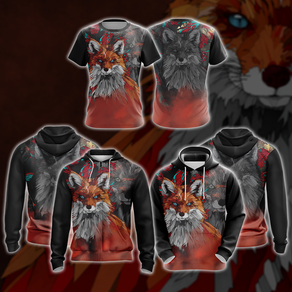 Aesthetic Fox Unisex 3D T-shirt