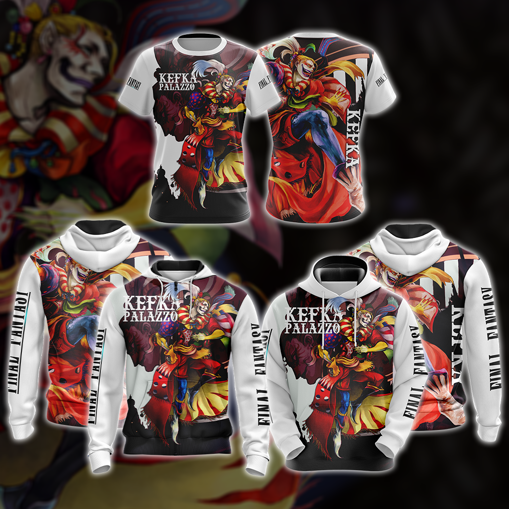 Final Fantasy Kefka Clown Unisex 3D T-shirt