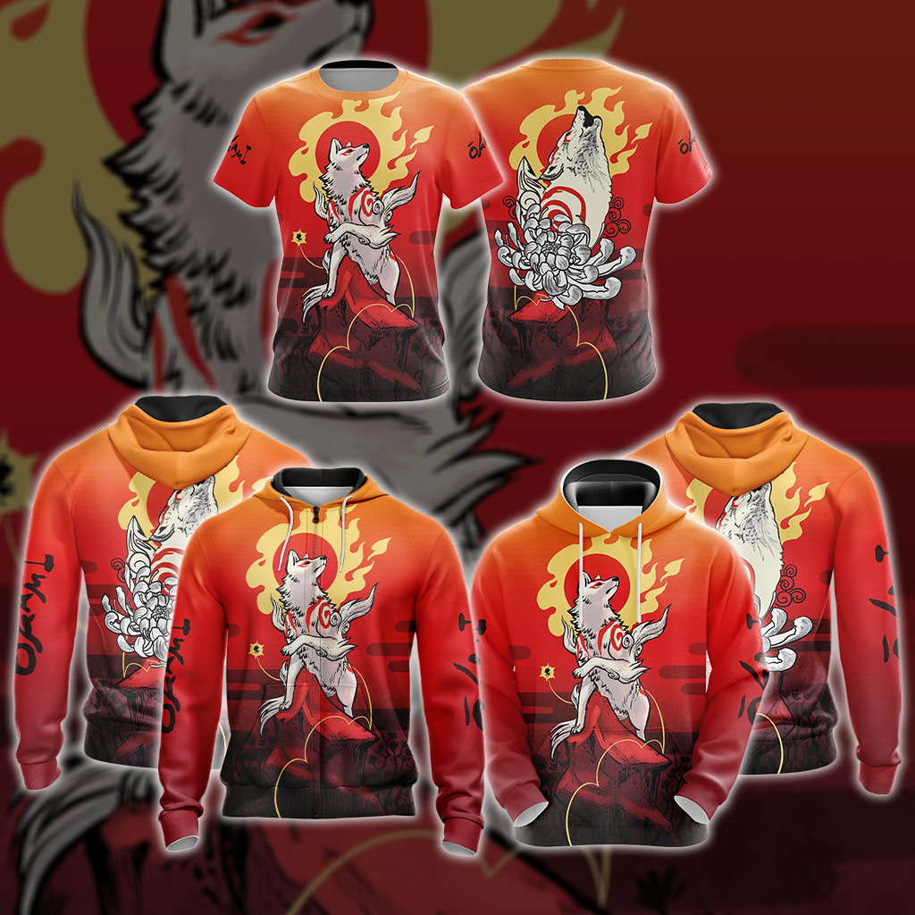 Okami Fox Fire Unisex 3D T-shirt