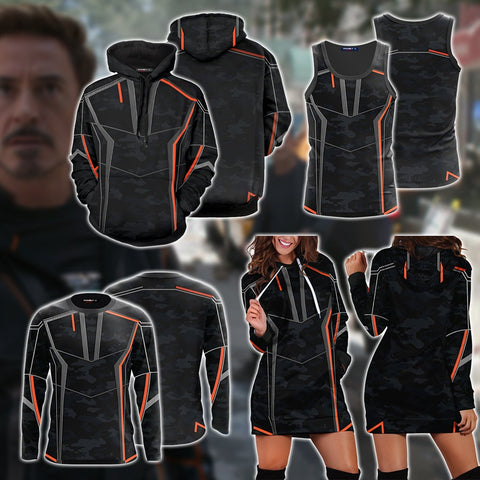 Iron Man (Tony Stark) Cosplay 3D Hoodie Dress