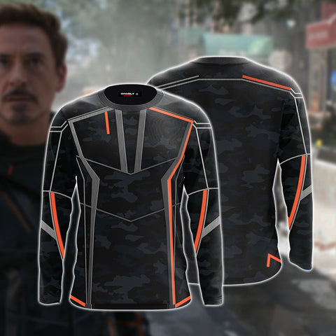 Image of Iron Man (Tony Stark) Cosplay 3D Long Sleeve Shirt