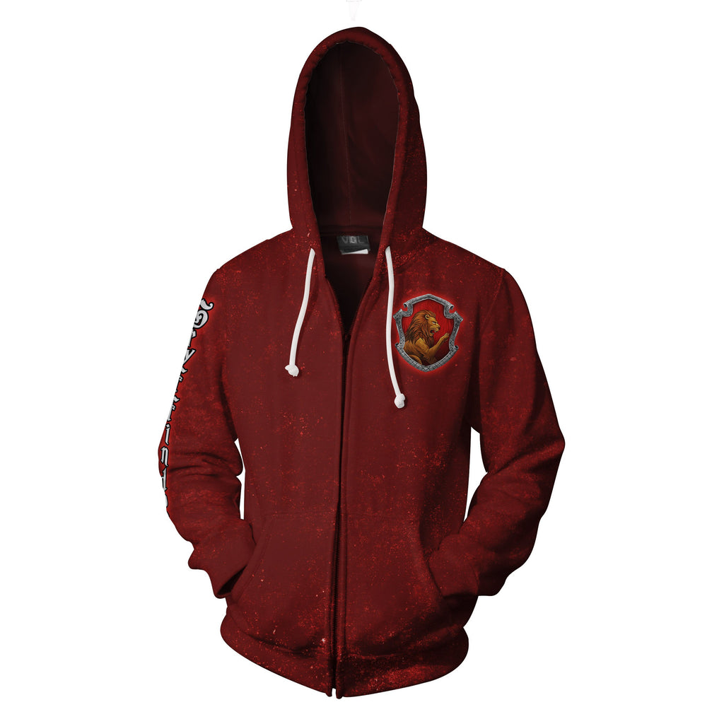 Gryffindor Logo (Harry Potter) 3D Zip Up Hoodie