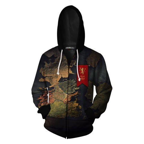 Image of Hear Me Roar Lannister Game Of Thrones Zip Up Hoodie