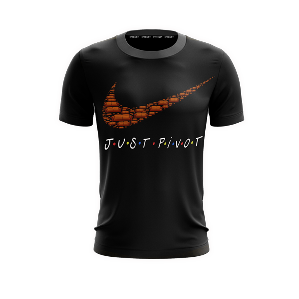 Friends TV Show: Just Pivot Eat Like Joey Dress Like Rachel Unisex 3D T-shirt