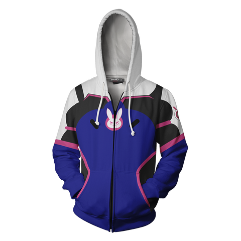 Image of Overwatch D.Va Cosplay Zip Up Hoodie Jacket