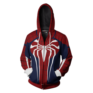 Spider-Man Cosplay PS4 New Look Zip Up Hoodie Jacket