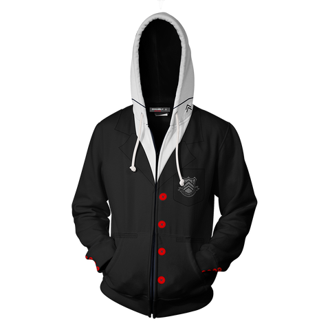 Image of Persona 5 Akira Kurusu Cosplay Zip Up Hoodie Jacket